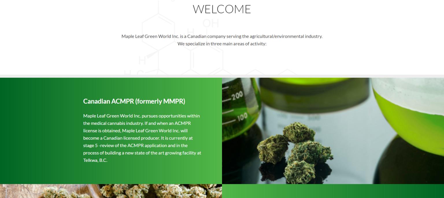 Maple Leaf Green World Inc Mmjpr